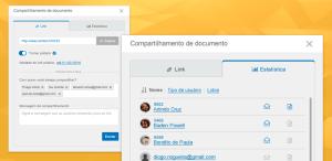 Compartilhe documentos no SE Document