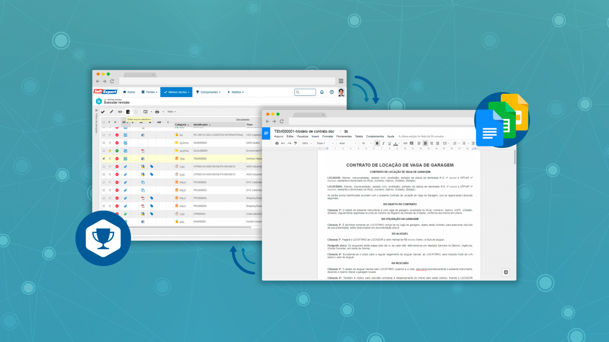 Edite e revise documentos do SE Suite utilizando o Google Docs