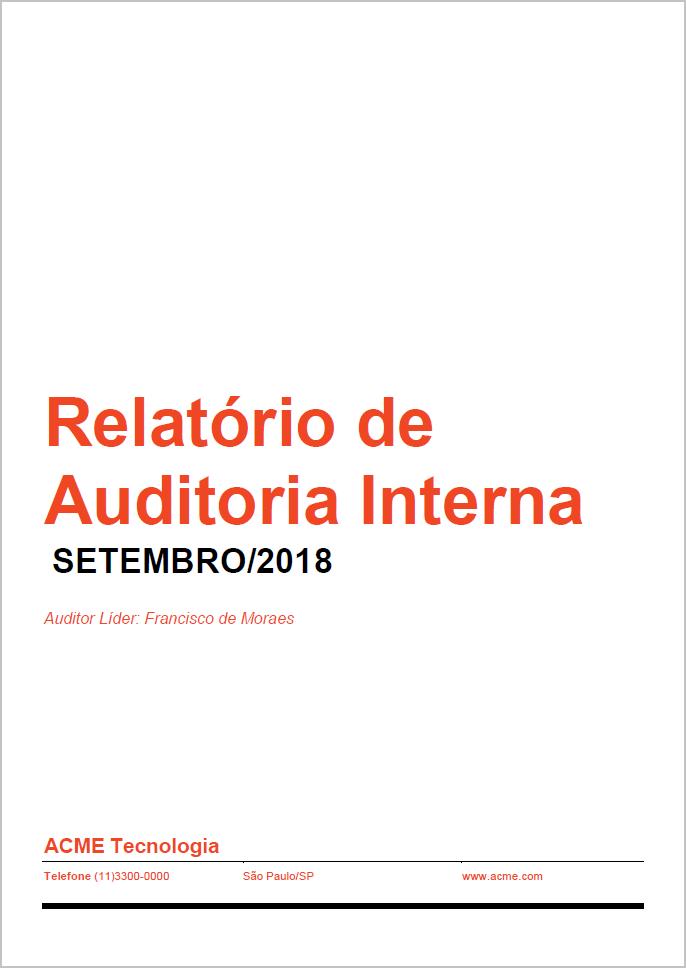 Template relatório auditoria interna