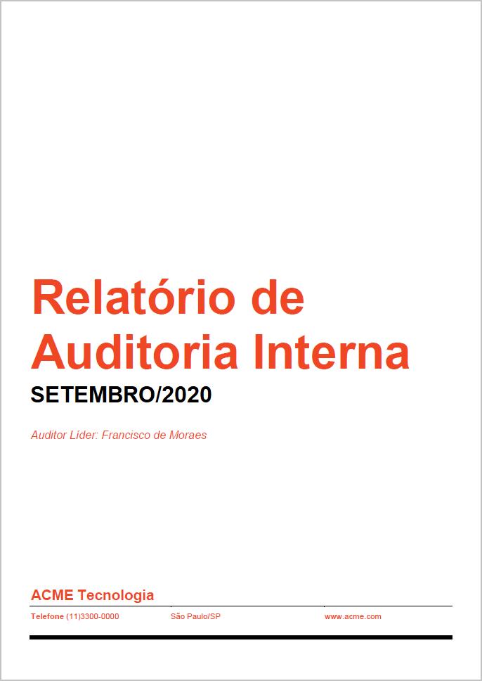 Relatório de Auditoria Interna