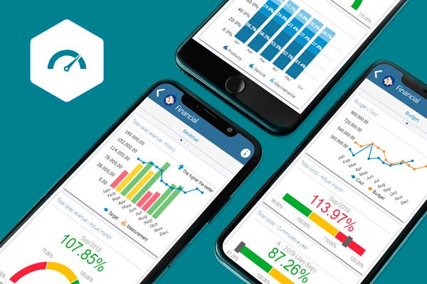 Gráficos do SoftExpert Desempenho em dispositivos móveis