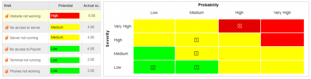 best risk matrix example